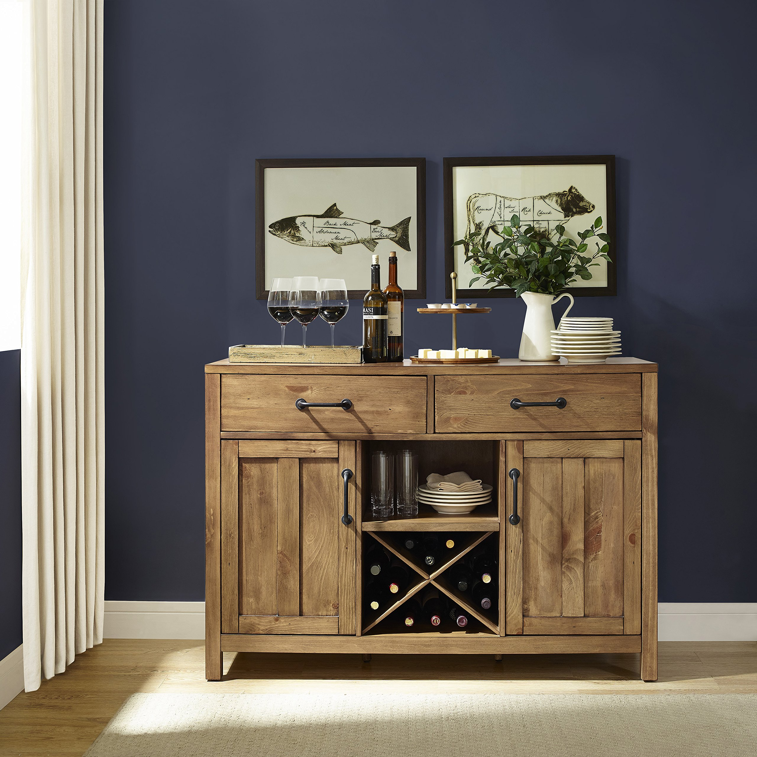 Crosley Furniture Roots Buffet Dining Room Storage - Natural by Crosley Furniture (Image #10)