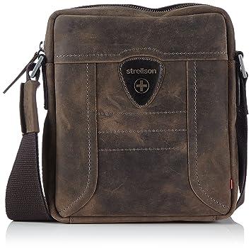 Strellson Hunter shoulderbag SV 4010000187 Herren Schultertaschen 20x23x6 cm (B x H x T), Braun (dark brown 702)