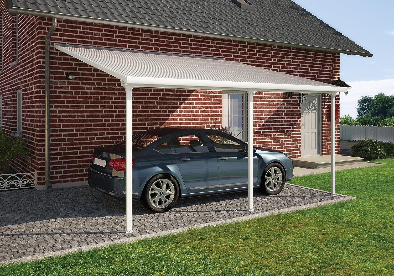 amazon com palram feria carport 13 u0027 x 20 u0027 white patio lawn