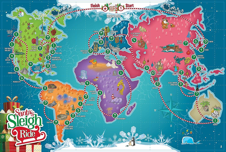 Amazon.com: Trineo de Santa Ride – Un Navidad educativo ...