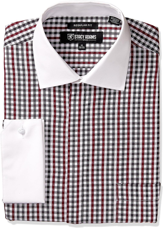 STACY ADAMS Camisa de vestir para hombre con rayas verticales ...