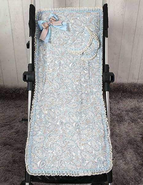 Babyline Caramelo - Colchoneta ligera para silla de paseo, color azul: Amazon.es: Bebé