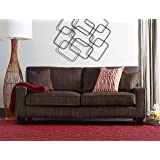 "Serta Deep Seating Palisades 78"" Sofa in Essex Brown"