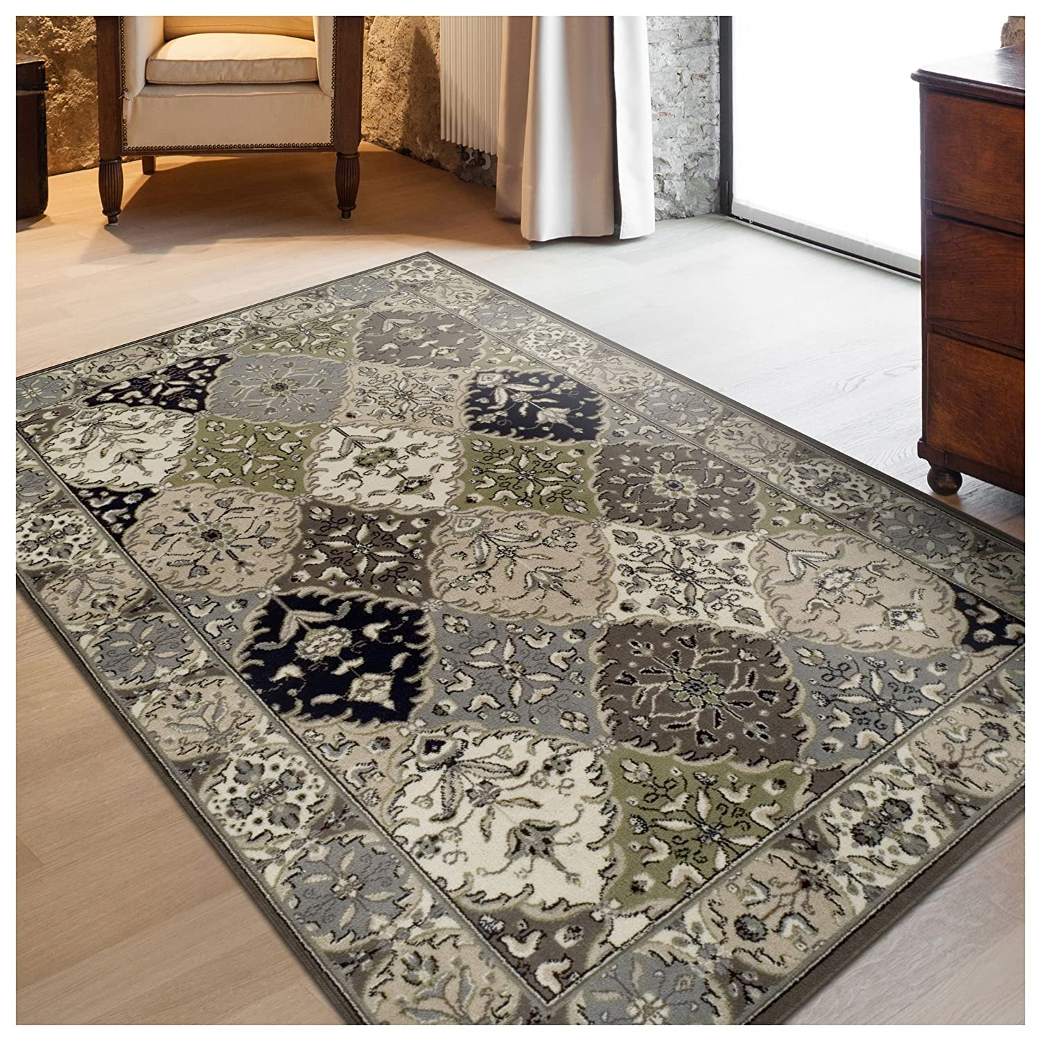 Traditional Persian Rug Design 27 x 8 Runner Fashionable and Affordable Woven Rugs Superior Paloma Collection Area Rug 8mm Pile Height with Jute Backing
