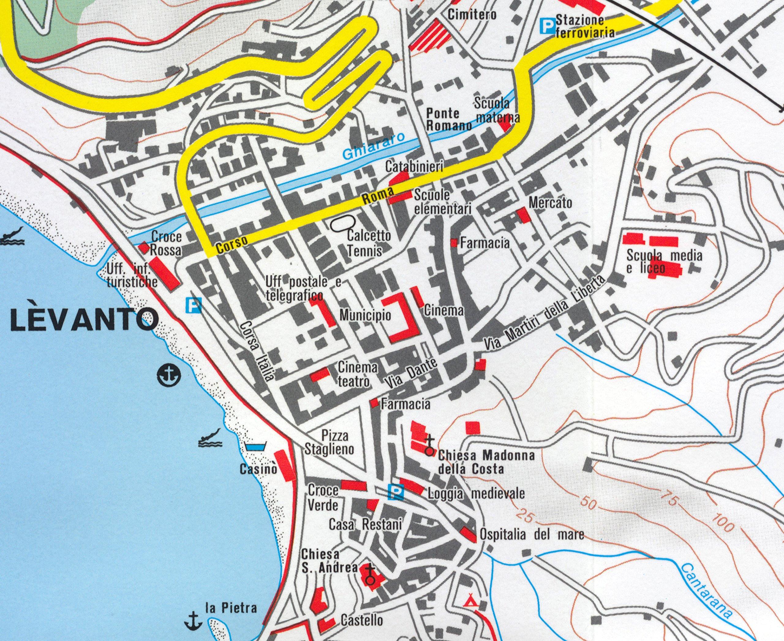 Corniglia Italy Map.Cinque Terre Italy 1 50 000 Hiking Map Waterproof Kompass