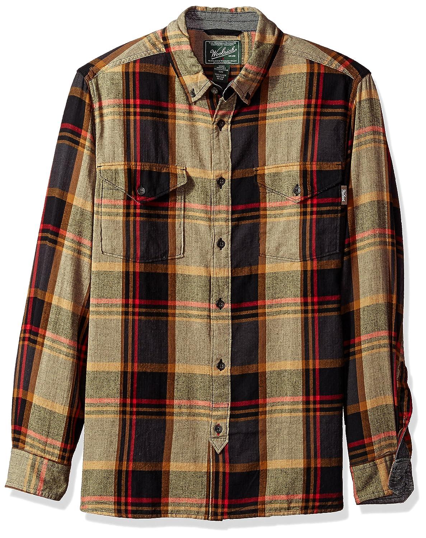 Woolrich herren Stone Rapids Organic Cotton Yarn-dye Flannel Modern Fit  Button Down Hemd