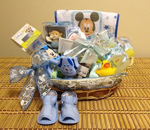 Baby Boy pequeña sorpresa cesta de regalo: Amazon.com ...