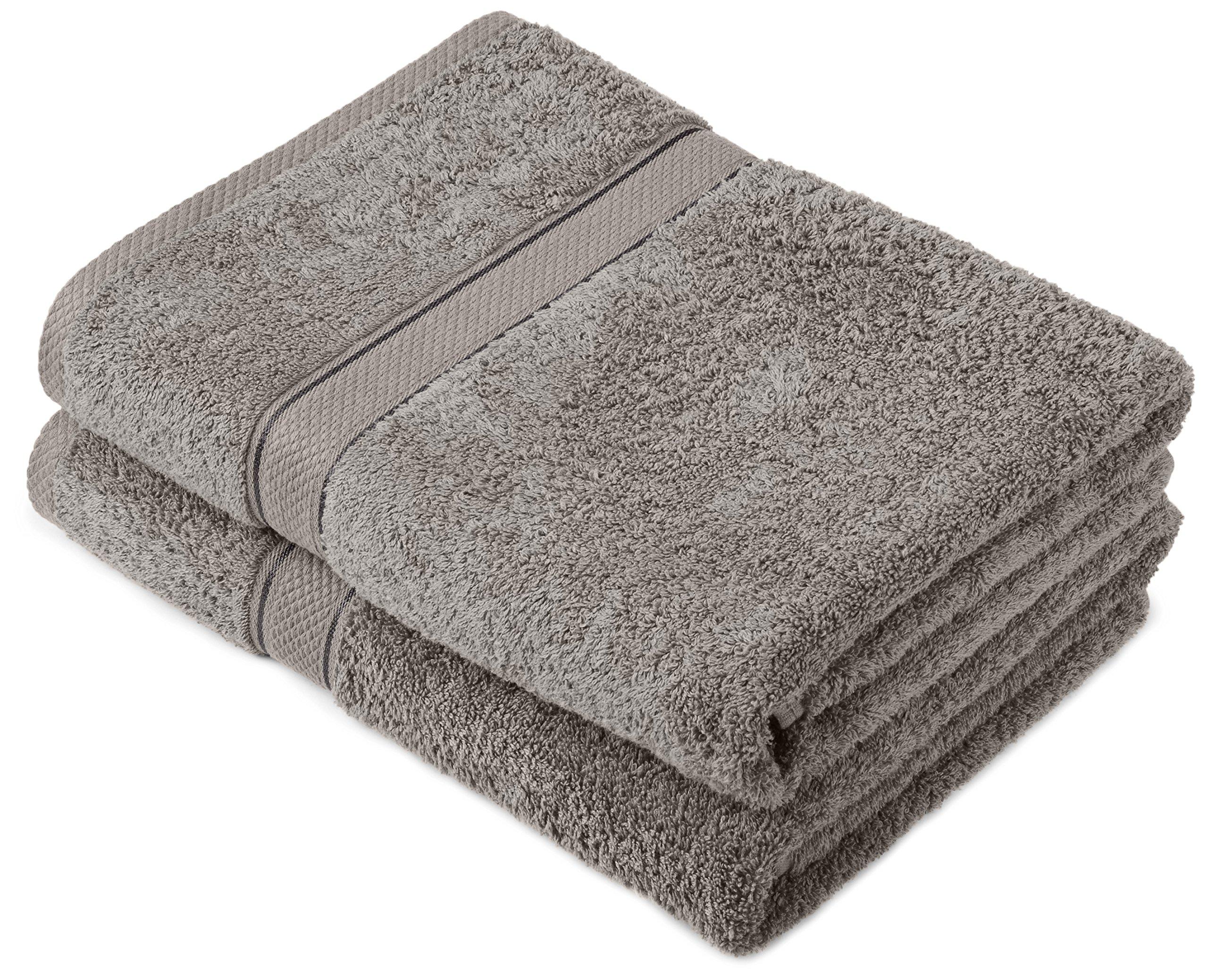Pinzon by Amazon - Juego de toallas de algodón egipcio (2 toallas de baño)