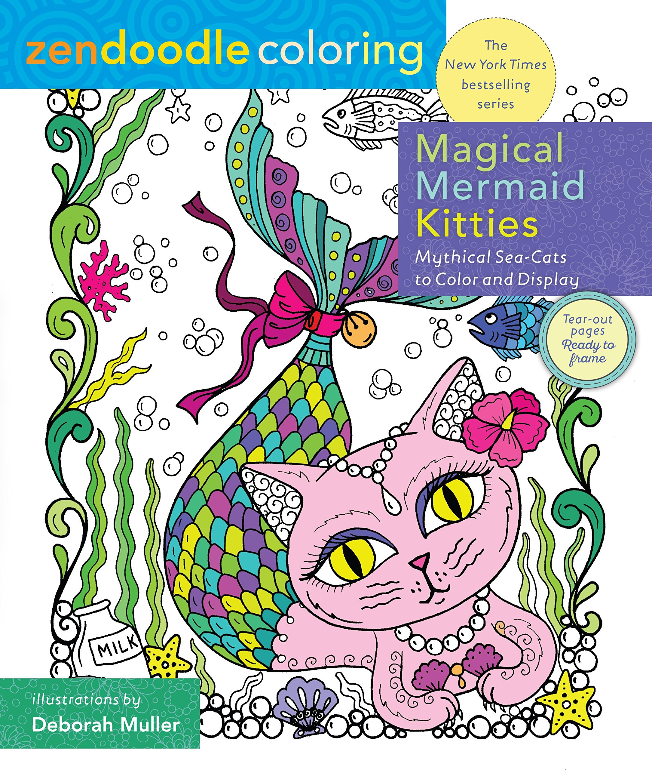 Zendoodle coloring enchanting gardens - Amazon Com Zendoodle Coloring Magical Mermaid Kitties Mythical Sea Cats To Color And Display 9781250141569 Deborah Muller Books