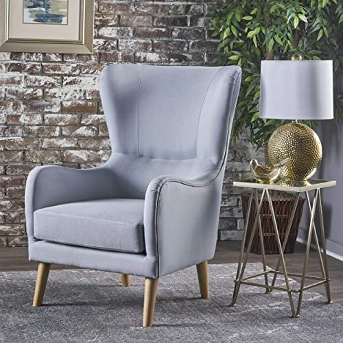 Christopher Knight Home Saunder Wingback Fabric Club Chair