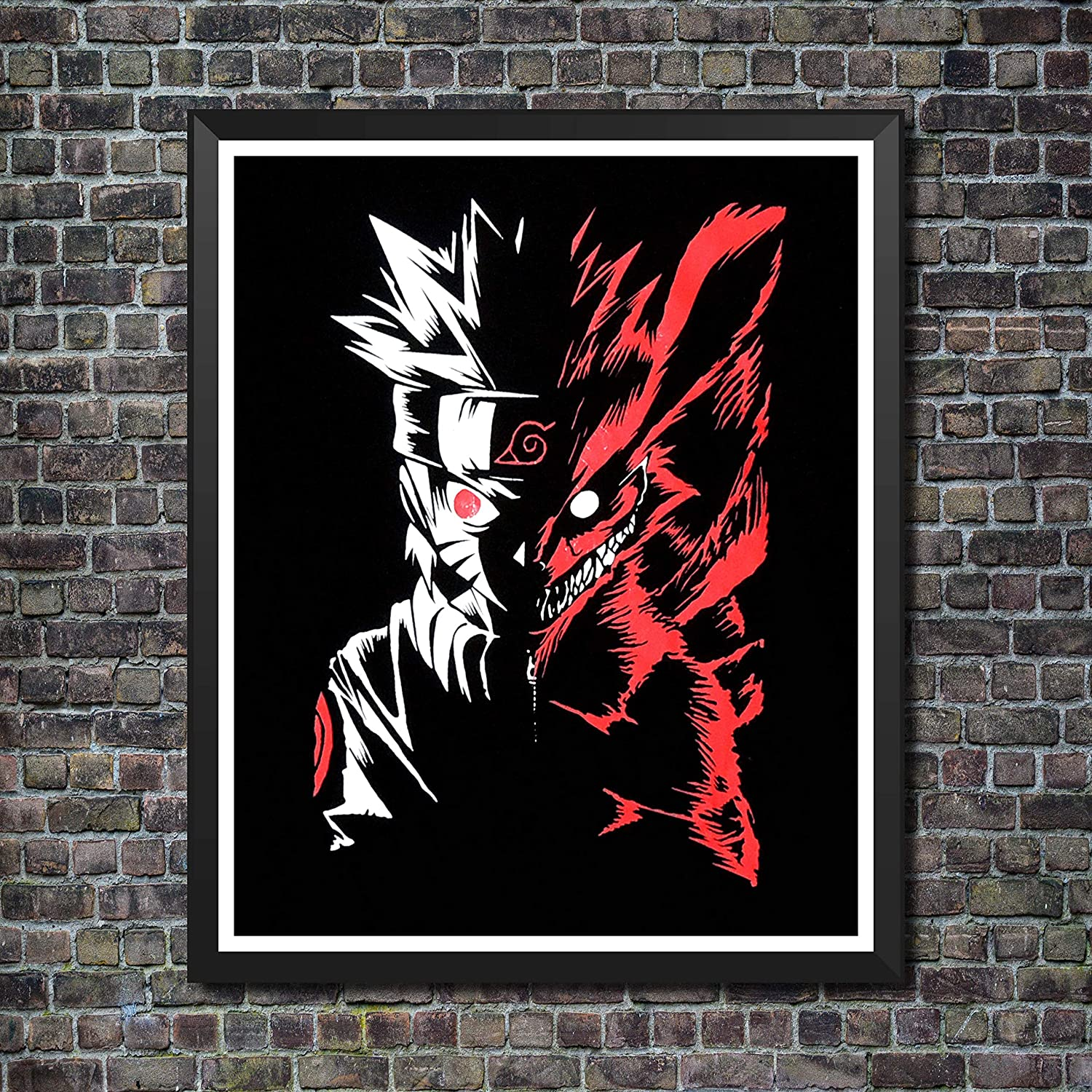 Yansang NARUTO and Jiraiya Anime Art Prints Wall Art Picture for Bedroom Home Decor Canvas Print Poster,8 x 10 Inches,No Frame