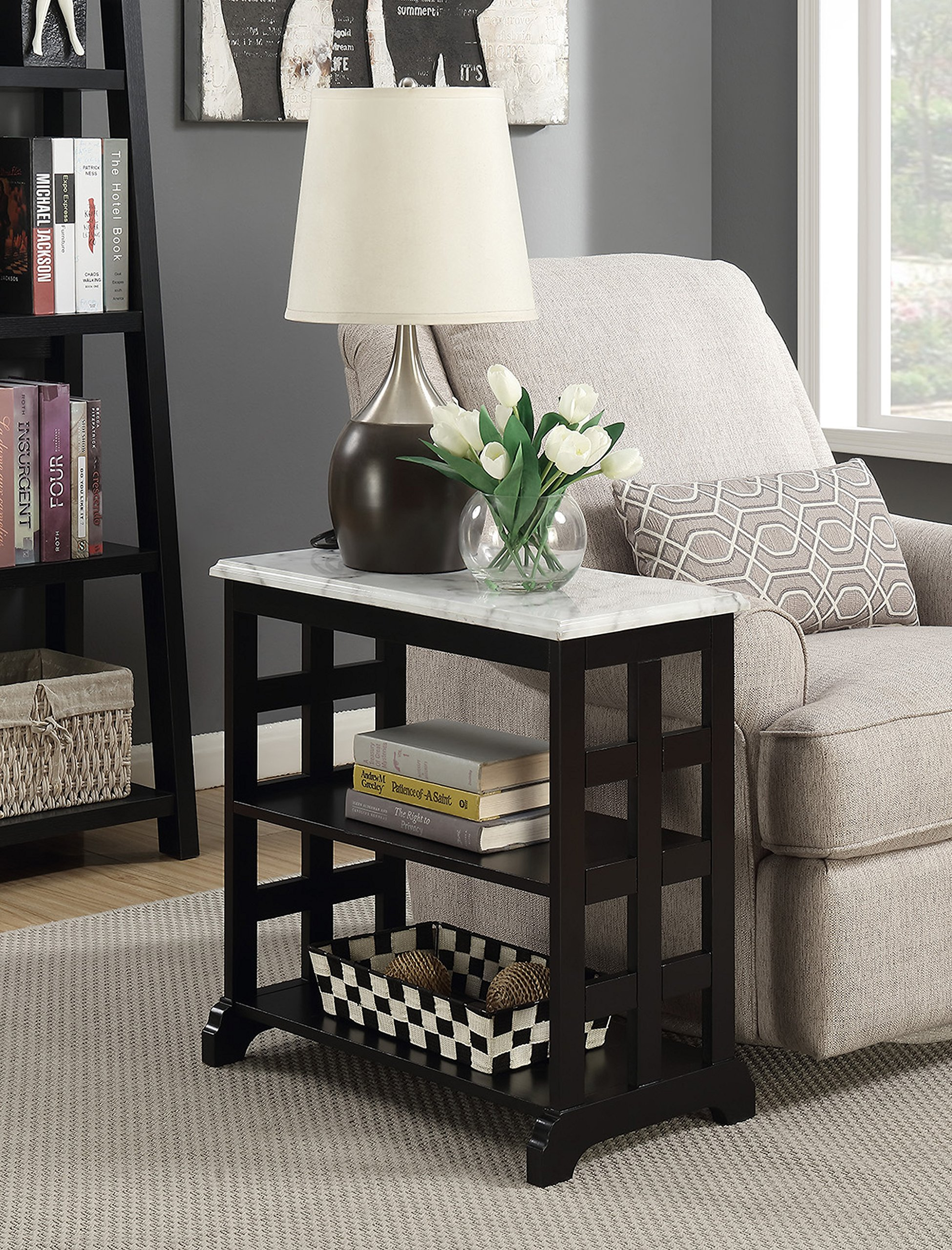 Convenience Concepts American Heritage Baldwin Chairside Table, Black by Convenience Concepts American Heritage Baldwin Chairside Table, Black