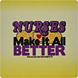 3dRose LLC 8 x 8 x 0.25 Inches Nurses Make It All Better Mouse Pad (mp_11939_1)