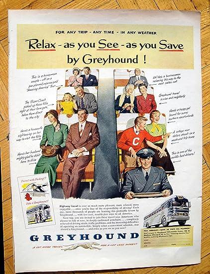 Amazon com : 1951 Greyhound Bus-Any Trip-Any Time-Any