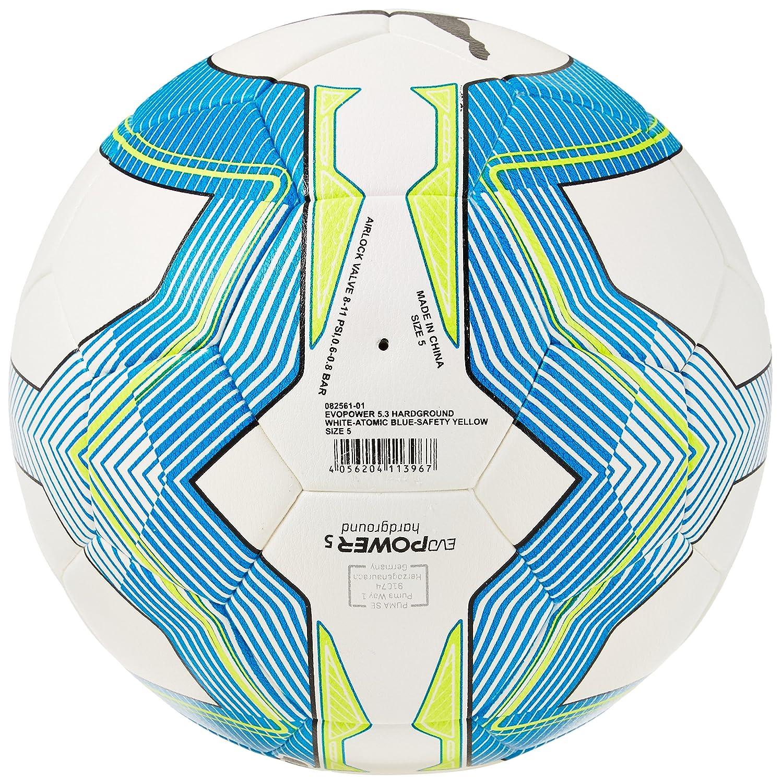 8c6d6feec1ff Puma evoPOWER 5.3 Hardground Football, White/Atomic Blue/Safety Yellow Size  082561 01: Amazon.co.uk: Sports & Outdoors