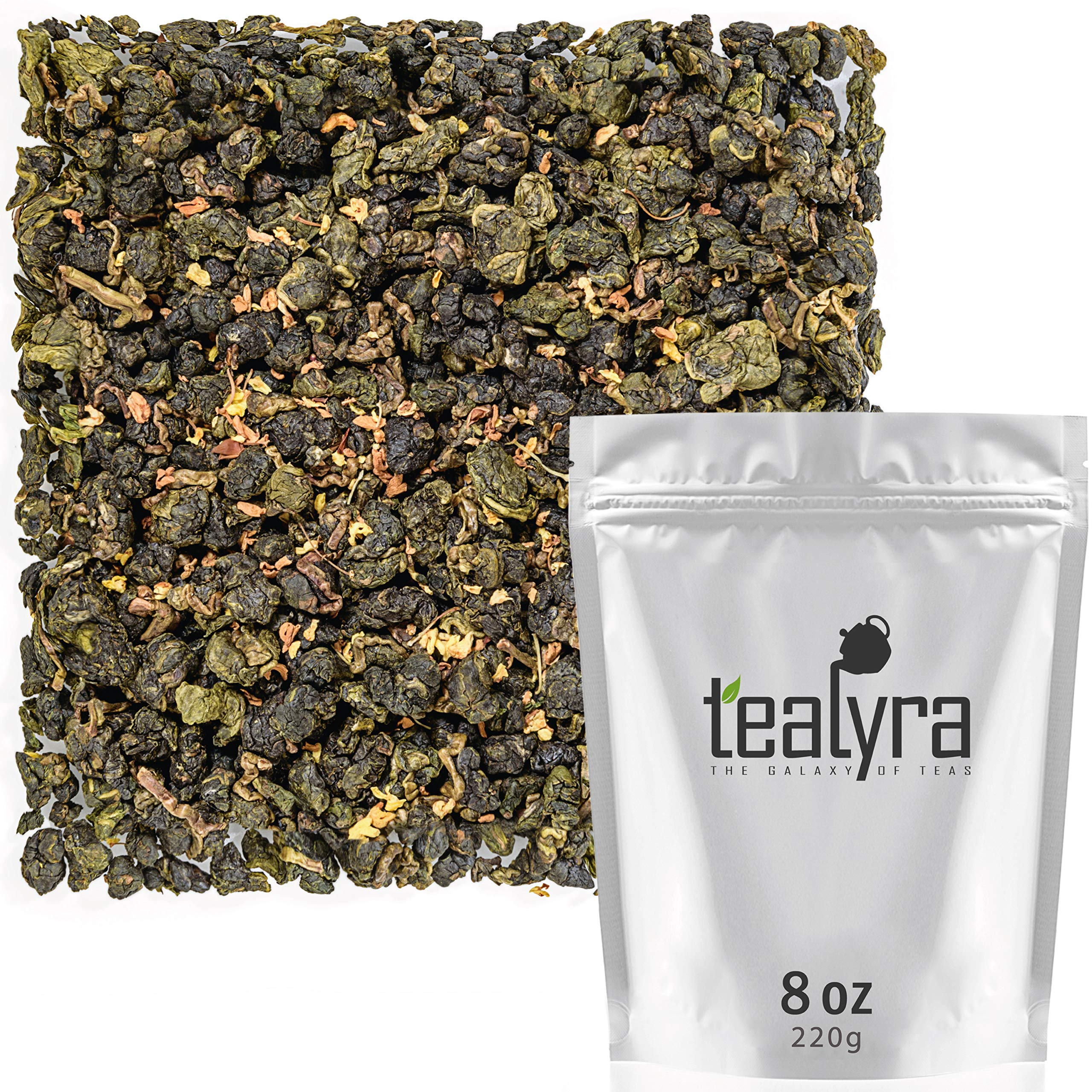 Tealyra - Osmanthus Gui Hua Oolong - Taiwanese Oolong Loose Leafe Tea - Sweet and Aromatic Taste - Organically Produced - 220g (8-ounce) by Tealyra