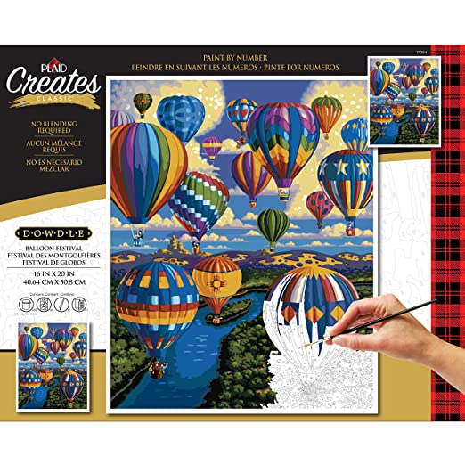 Amazon.com: Plaid Creates 17084 Paint by Number Kit 16