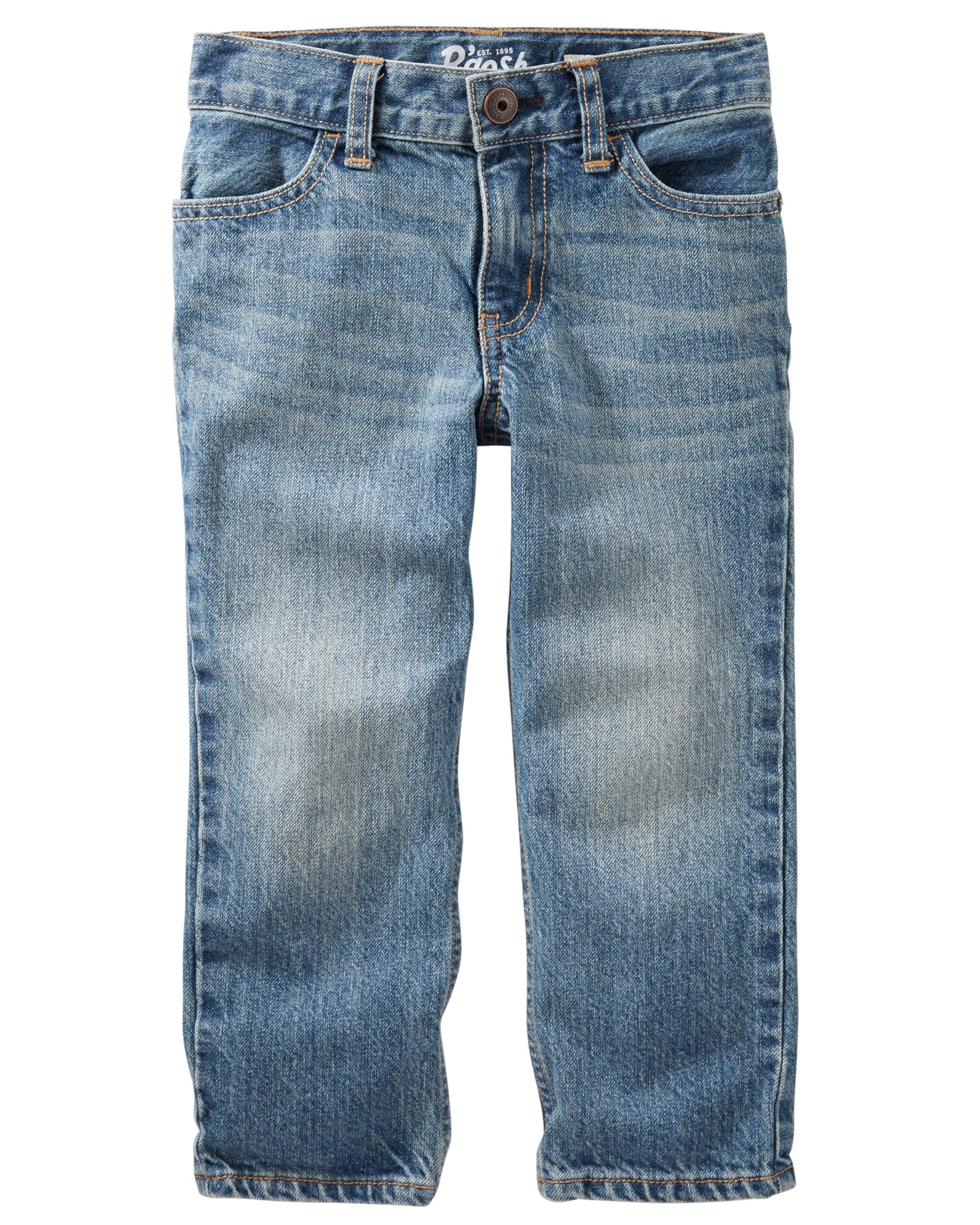 Osh Kosh Boys' Straight Jeans, Natural Indigo, 5T