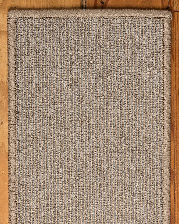 NaturalAreaRugs 100/% Natural Fiber Kenya Beige//Grey Borde Handmade Stair Treads Carpet Set of 13 9x29 Polypropylene Beige