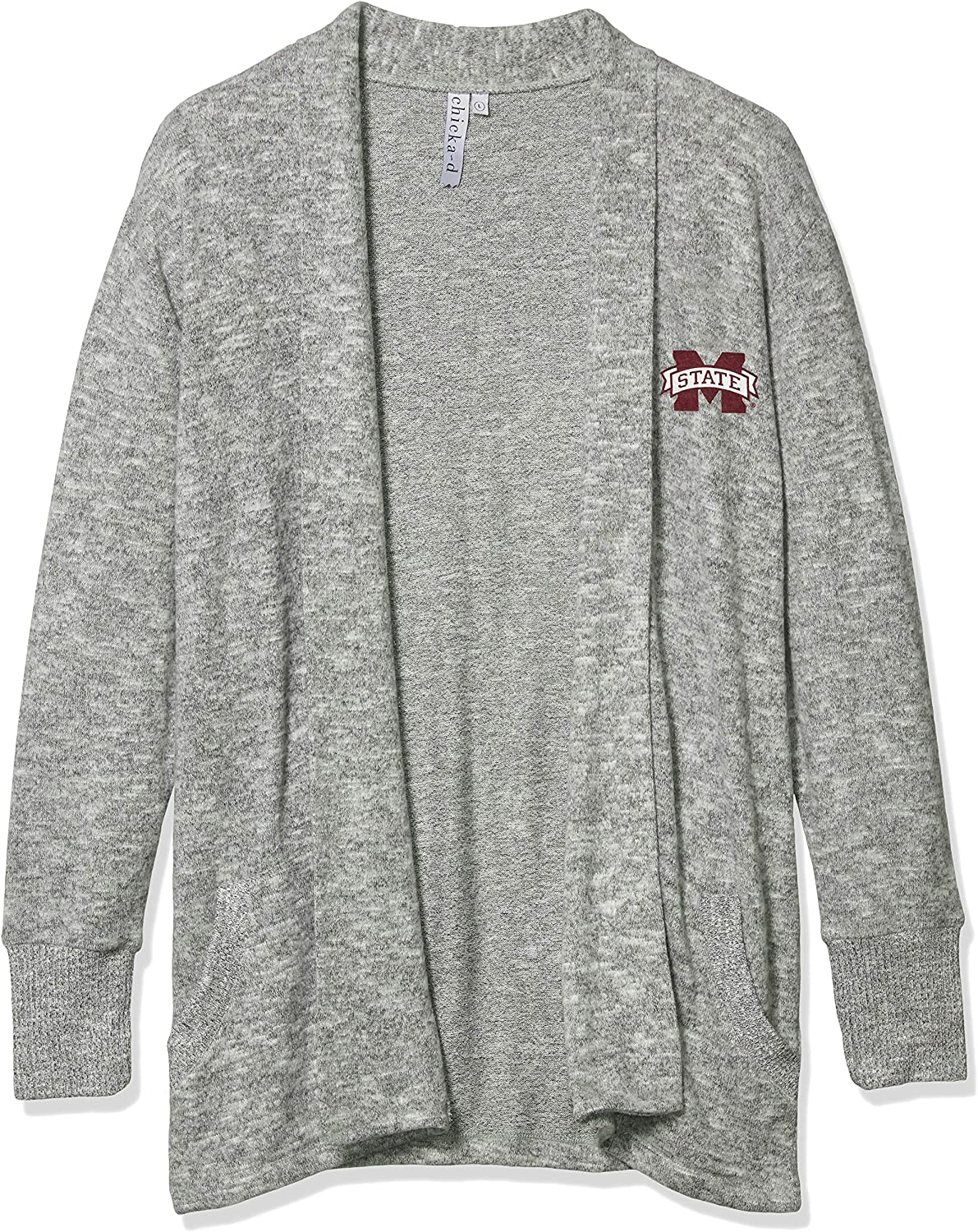 chicka-d NCAA Mississippi State Bulldogs Womens MS476 Cozy Fleece Cardigan