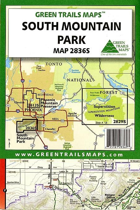Map Of South Arizona.Amazon Com South Mountain Park Hiking Mountain Biking