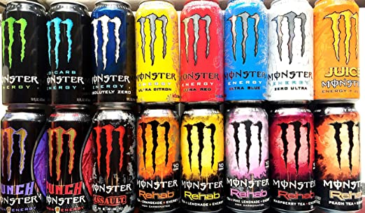 Amazon.com : Monster Energy Drink Variety Pack - 16 Pack : Grocery ...