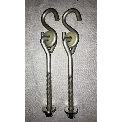 "swingsetaccessories.com 6"" Bolt Hanger Pair (4"" Shaft Length): Toys & Games"