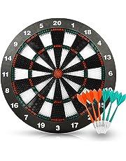 ActionDart Unisex's Target 1 Soft Tip Safety Dart Board-Games for Kids-Leisure Sport for Office (Set), 16