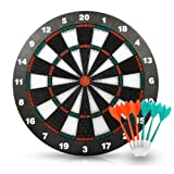 ActionDarts - Soft Tip Safety Darts and Dart Board - Great Games for Kids - Leisure Sport for Office (Set)