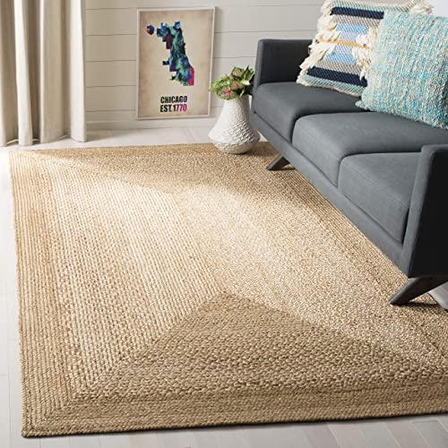 Safavieh Fiber Collection Natural and Ivory Jute Area Rug, 8 x 10