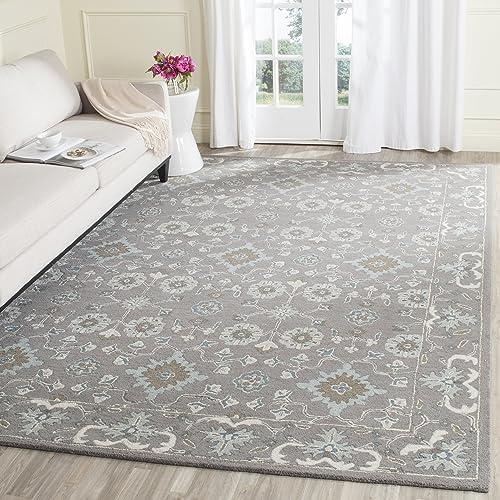 Safavieh Blossom Collection BLM218A Handmade Grey Premium Wool Area Rug 10 x 14