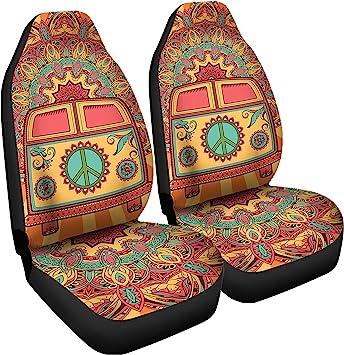 Amazon Com Gnarly Tees Hippie Van Car Seat Covers Automotive