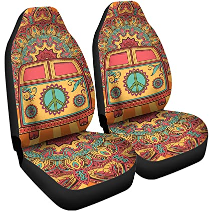 Gnarly Tees Hippie Van Car Seat Covers