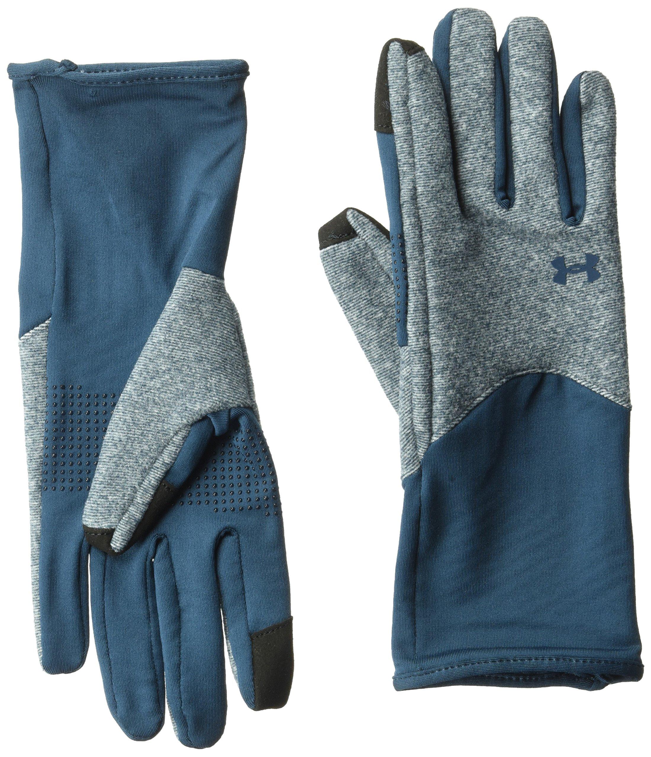 Under Armour Women's ColdGear Infrared Fleece Gloves, True Ink (918)/True Ink, Large
