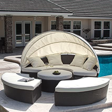 Bellagio 4-piece Outdoor Daybed Sectional Set - Amazon.com: Bellagio 4-piece Outdoor Daybed Sectional Set: Garden