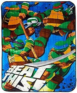 """Nickelodeon Teenage Mutant Ninja Turtles Blanket, Heroes 62' X 90"""""""