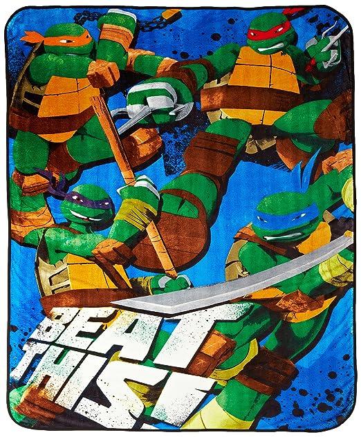 Nickelodeon - Manta para Adolescentes, diseño de Tortugas ...