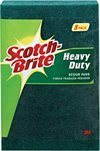 Scotch-Brite Heavy Duty Scour Pads, 8 Pads