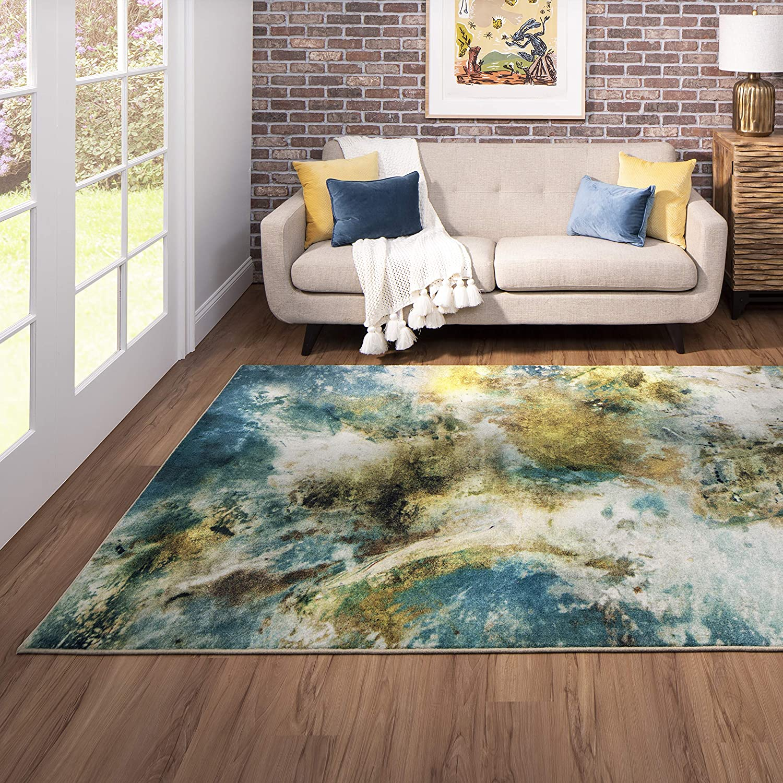 Mohawk Home Blue Shoreline Area Rug 5 X8 Teal Admiral Blue Z0227 A445 060096 Ec Furniture Decor