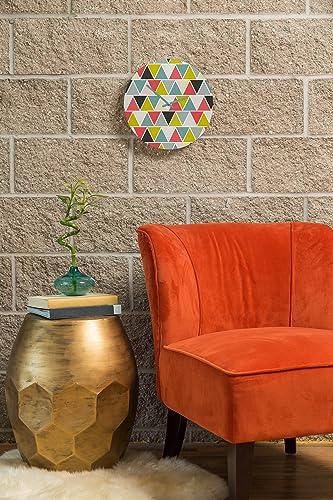 Deny Designs Heather Dutton Triangulum 12-inch Round Clock