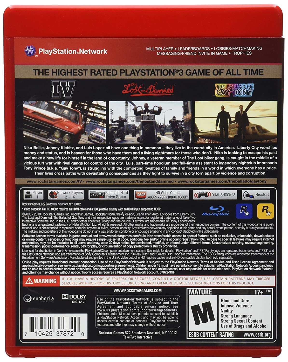 Grand Theft Auto IV - Complete Edition GH - PlayStation 3: Amazon