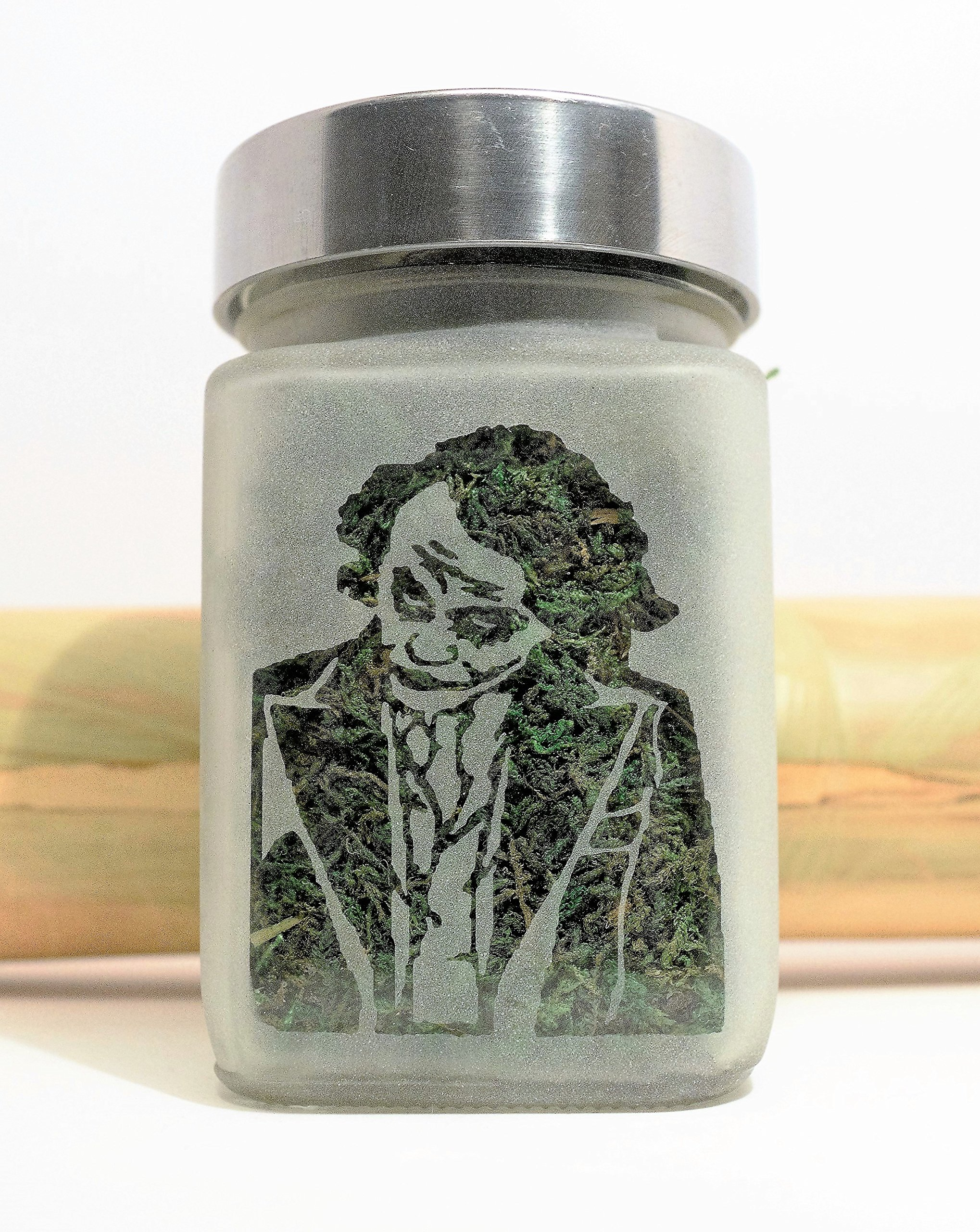 Batman Joker Stash Jar - 2''Wx3.5''T Weed Jar, Airtight, Smell Resistant - Holds 3/4 to 1oz