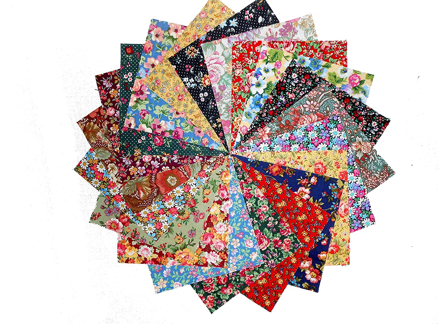 100 4 Among the Flowers Quilting Fabric Charm Pack 5 OF EACH 20 DIFFERENT PRINTS