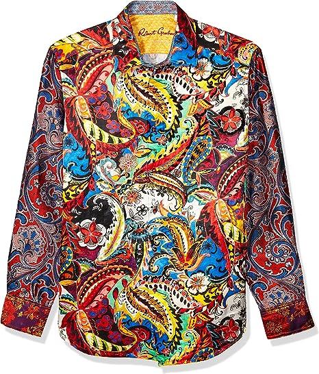 Amazon Com Robert Graham Men S The Conway Lmt Ed L S Woven Shirt Clothing