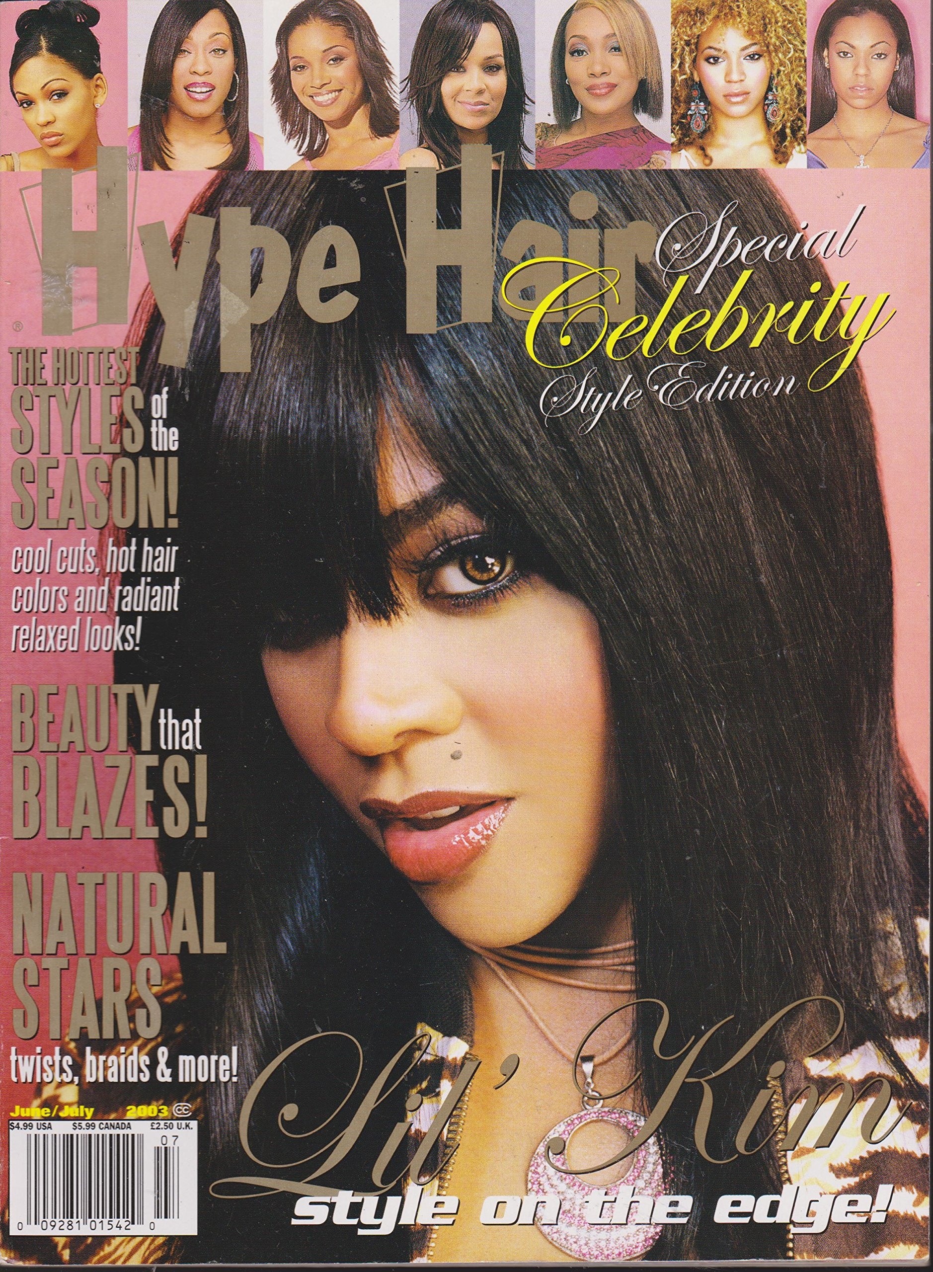 HYPE HAIR MAGAZINE JUNE/JULY 2003 *CELEBRITY STYLE ISSUE ...