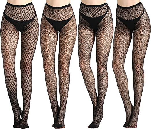 Womens Plus Size 2-Pack Patterned Tights