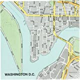 Design Ideas Mapkin, 5x5, Package of 20 Napkins, Washington DC
