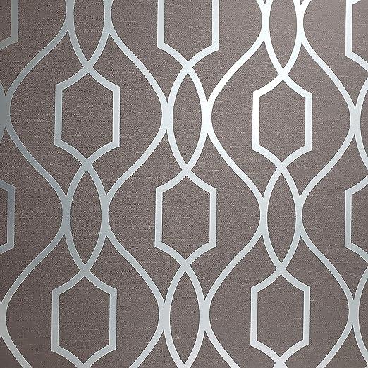 Wallpaper Designer Modern Geometric Dark Gray Light Gray Off White