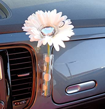 Amazon Vw Beetle Flower White And Diamond Bling Daisy With