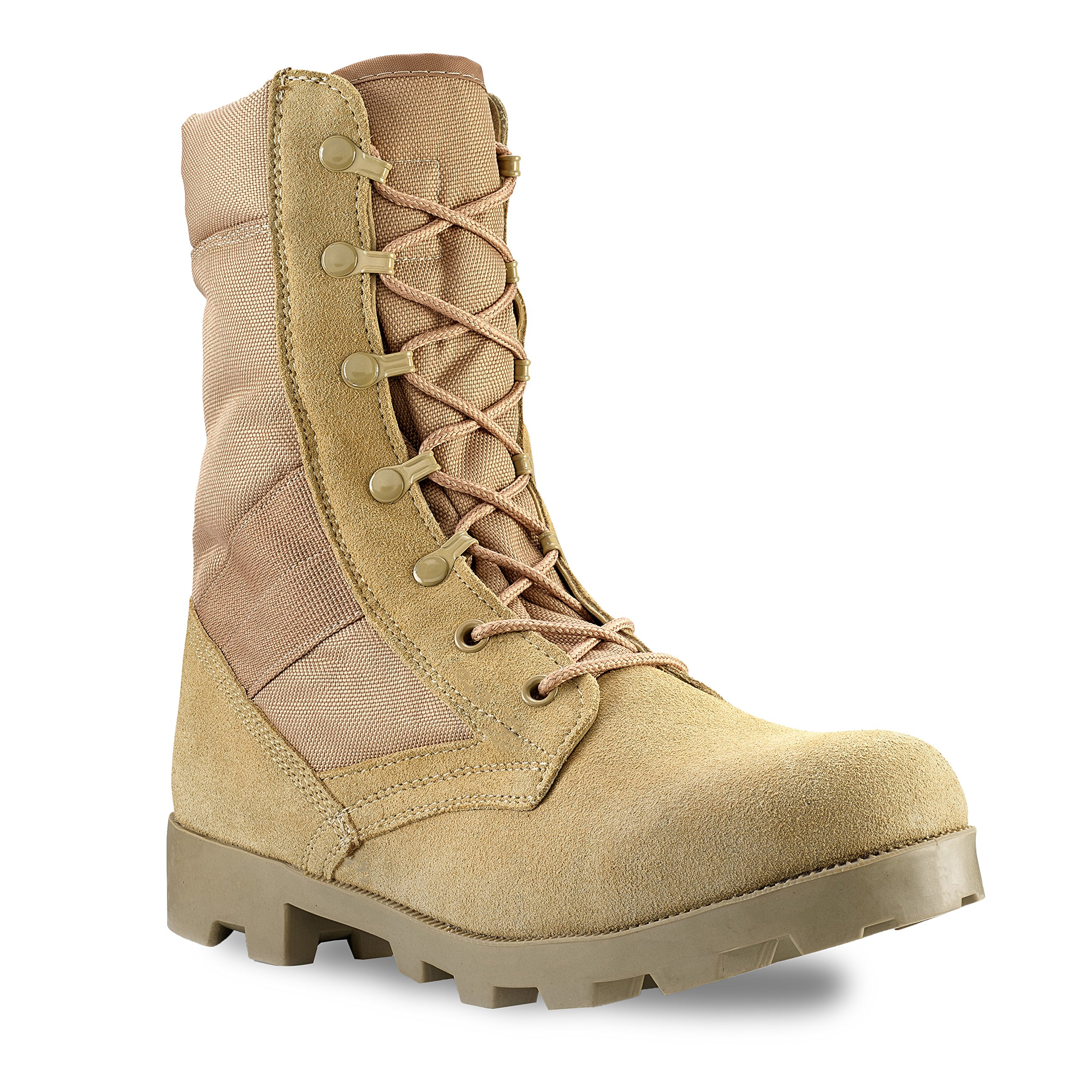Men's 9 Inch Desert Tan Boots with Side Zipper for Work, Construction, Hiking, Hunting, Outdoors. Durable, Comfortable,True to Size. 6 Month Warranty by Buffer Zone